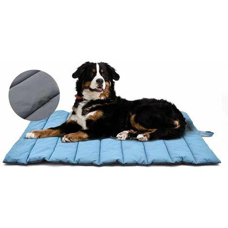 SOEKAVIA Tapis de chien imperméable pour extérieur, lit de chien lavable, antistatique, hygiénique, pliable, grande couverture de voyage pour animaux de compagnie 110x68 cm