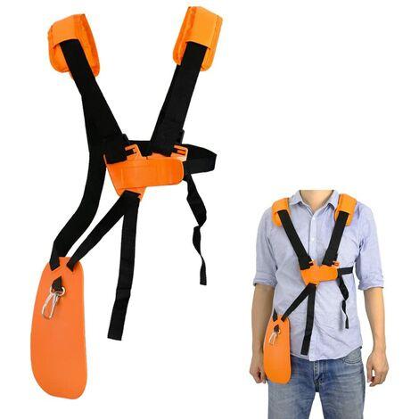SOEKAVIA Tondeuse à bandoulière-tondeuse à harnais double épaule avec ceinture de nylon durable Adjuestable pour débroussailleuse ou Gardenning (pour STIHL FS, taille-bordures série km)