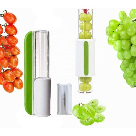 SOEKAVIA Trancheuse Tomate Raisin Fruit Légumes Salade Slicer Cerise Fruit Coupe Demi-Vert