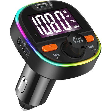 SOEKAVIA Transmetteur FM voiture Bluetooth adaptateur autoradio kit mains libres voiture avec PD3.0