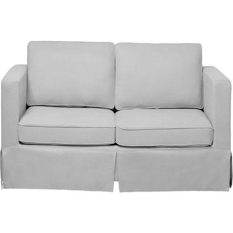 Sofá 2 plazas tapizado gris claro HOLMEN