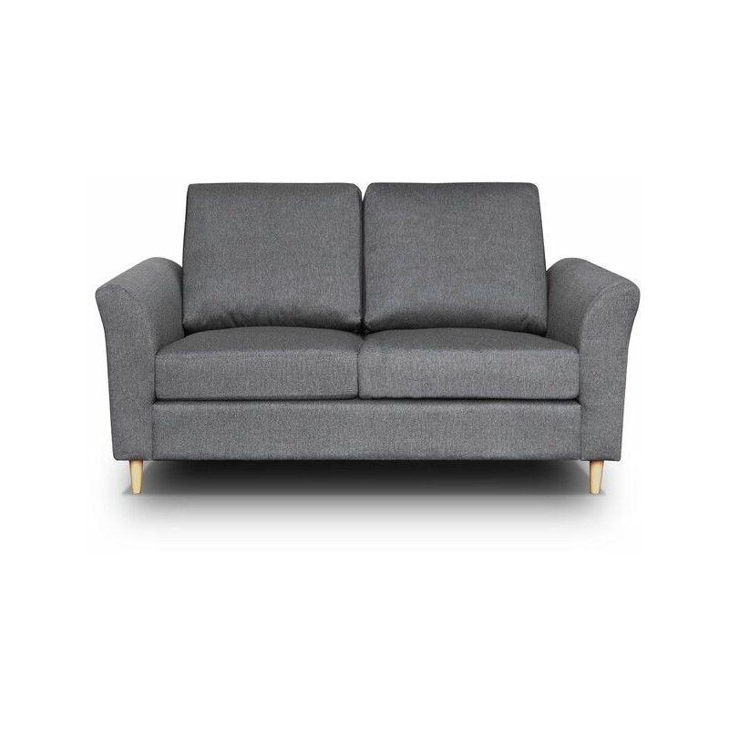 Sofa 2-Sitzer HAITOR Dunkelgrau - FUN MOEBEL
