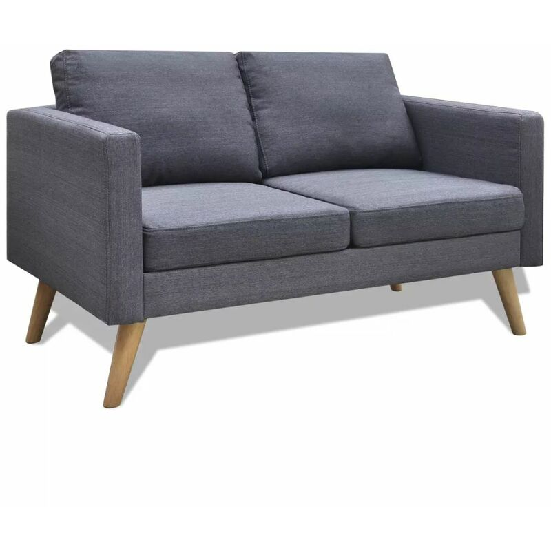 Sofa 2-Sitzer Stoff Dunkelgrau - ZQYRLAR