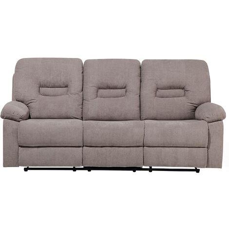 Sofá 3 plazas ajustable tapizado beige BERGEN