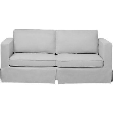 Sofá 3 plazas tapizado gris claro HOLMEN
