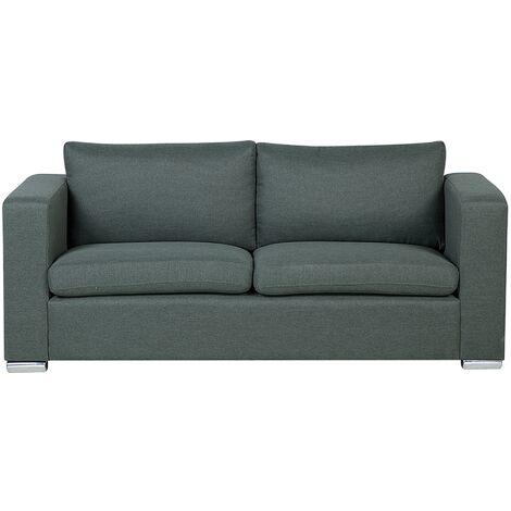 Sofá 3 plazas tapizado gris oscuro HELSINKI
