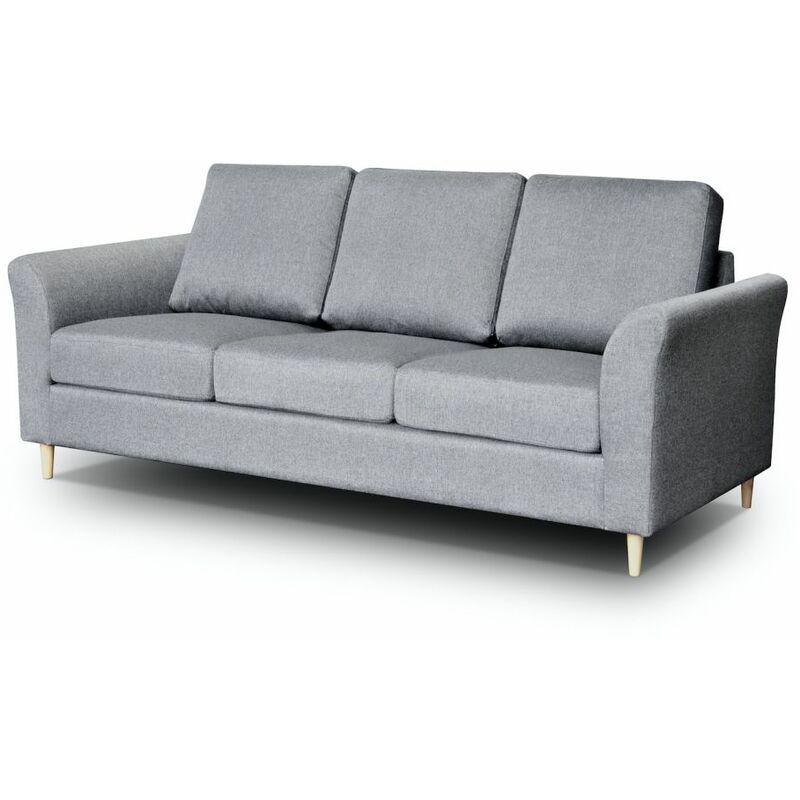 Sofa 3-Sitzer HAITOR Grau - FUN MOEBEL