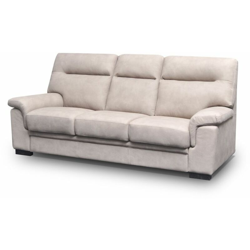 Sofa 3-Sitzer OPAL mit Schlaffunktion Beige - FUN MOEBEL