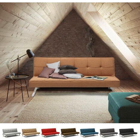 Sofa Bed 2 Seats in Fabric Modern Design GEMMA