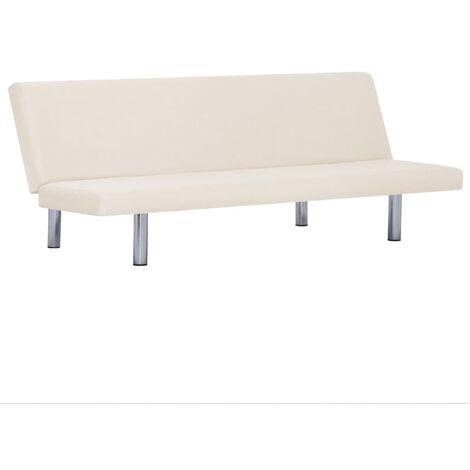 Sofa Bed Cream Fabric