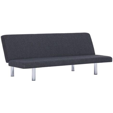 Sofa Bed Dark Grey Fabric