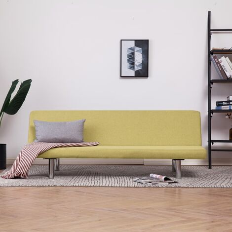 Sofa Bed Green Fabric