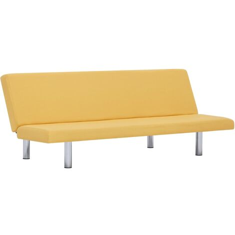 Sofa Bed Yellow Fabric
