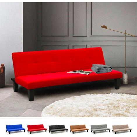 Sofá cama 2 plazas microfibra con patas para casa y sala de espera Onice ProNTO LETTO