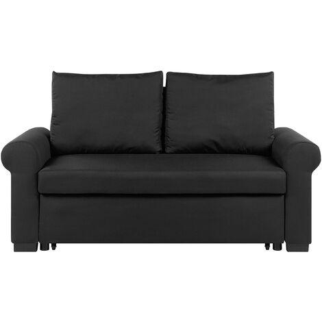 Sofá cama 2 plazas negro SILDA