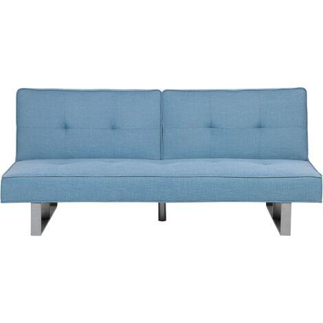 Sofá cama 3 plazas azul DUBLIN
