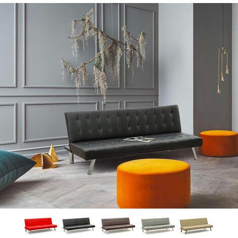 Sofá cama 3 plazas cuero artificial ZAFFIRO para casas y locales públicos