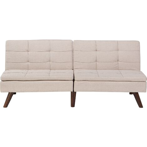 Sofá cama 3 plazas tapizado beige RONNE