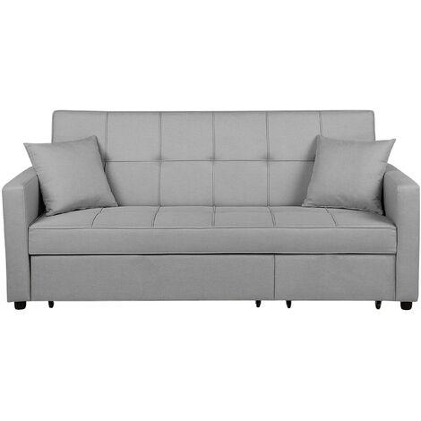 Sofá cama 3 plazas tapizado gris claro GLOMMA