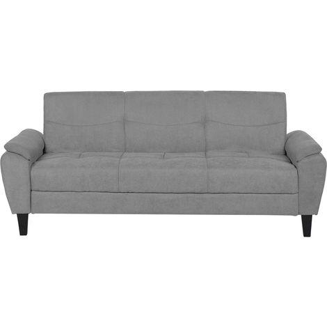 Sofá cama 3 plazas tapizado gris claro HALMSTAD
