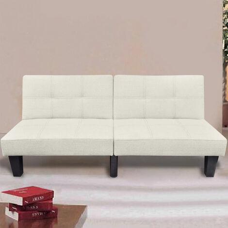 Sofa cama ajustable beige