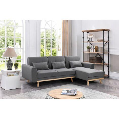 Sofá-cama chaise-longue new noelia azul terciopelo 3 plazas más tres cojínes incluido estilo ideal para cualquier espacio de su hogar