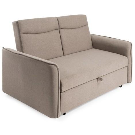 Sofa cama con apertura Delfin, 3 plazas, color Marrón, ref-06