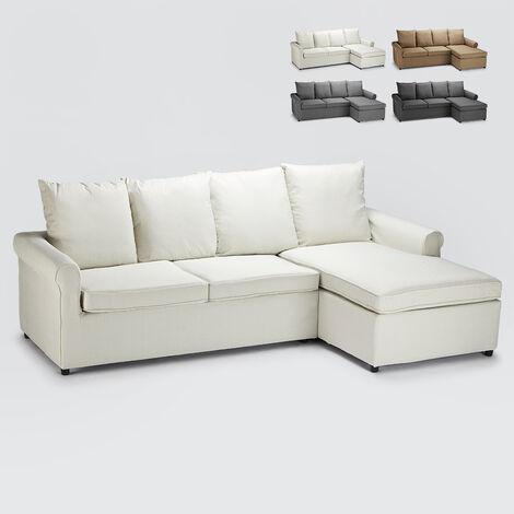 Sofá cama de esquina con 2 plazas desenfundable Lapislazzuli Plus