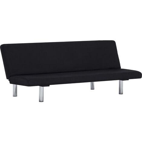 Sofá cama de poliéster negro