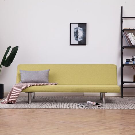 Sofá cama de poliéster verde