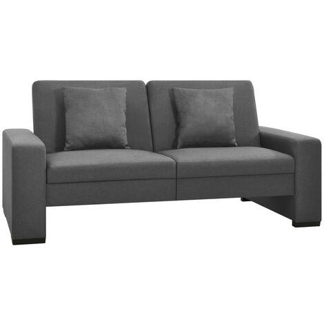 Sofá cama de tela gris - Gris