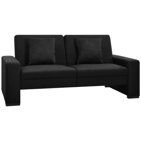 Sofa cama de tela negra