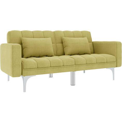 Sofá cama de tela verde