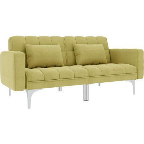 Sofa cama de tela verde
