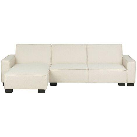 Sofá cama esquinero beige derecho ROMEDAL
