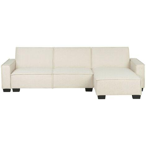 Sofá cama esquinero beige izquierdo ROMEDAL