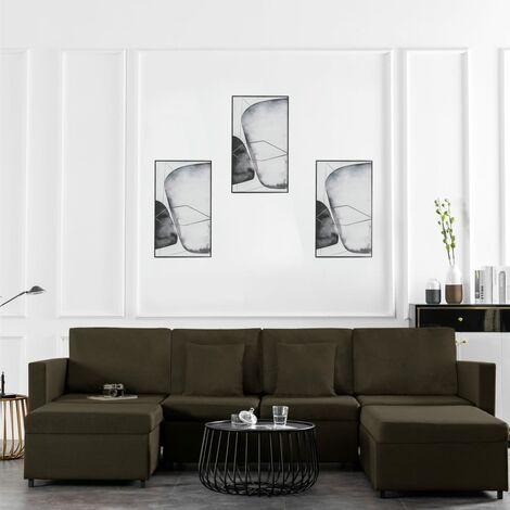 Sofá cama extraíble de 4 plazas tela gris topo
