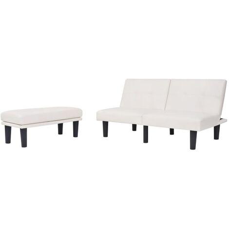 Sofá cama modular ajustable PVC blanco