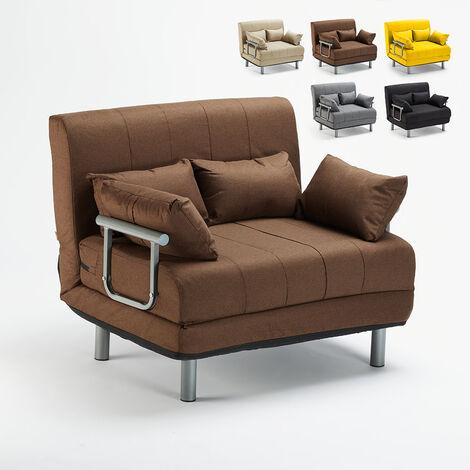 Sofá cama plegable de tela Deborah Twin