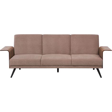 Sofá cama tapizado, marrón claro, HALTI