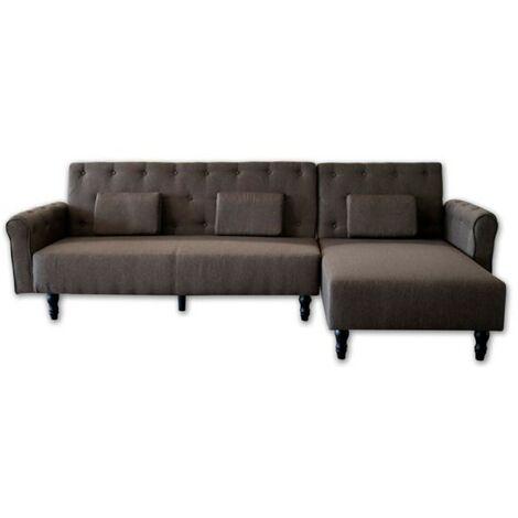 Sofa chaise longue Milano de 267cm, convertible en cama