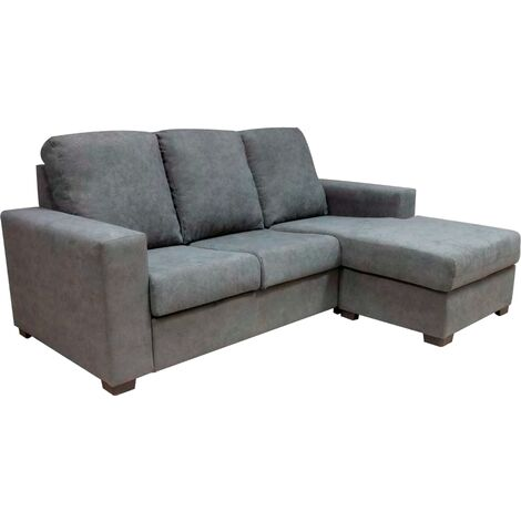 Sofá Chaiselongue reversible Wally - Gris
