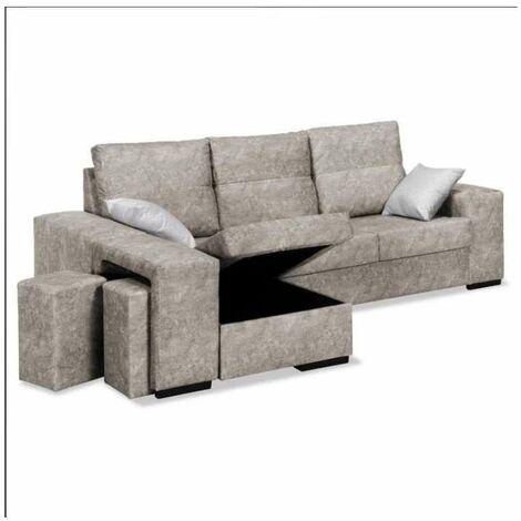 Sofa con chaiselongue Bea dos colores a elegir 230 cm(ancho) 95 cm(altura) 150 cm(fondo)..