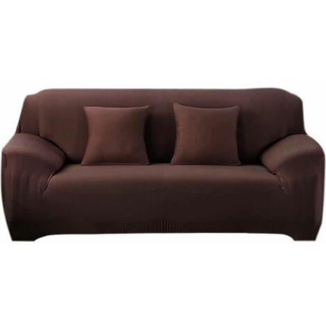Sofa cover, 3 seater 190-230CM, extendable corner sofa bed home decoration bookstore Salon Marron