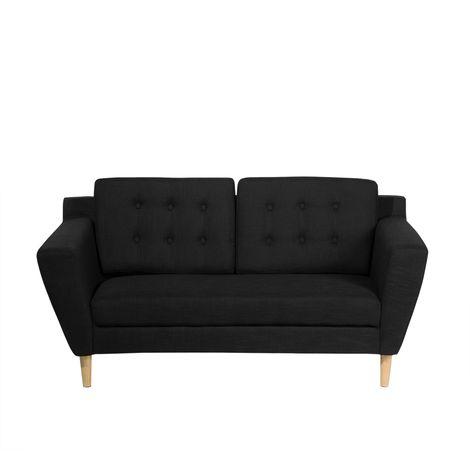 Sofá de 2 personas tapizado negro KUOPIO