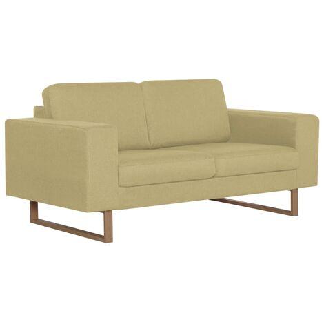 Sofá de 2 plazas de tela verde