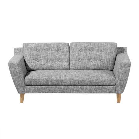 Sofá de 3 personas tapizado gris KUOPIO