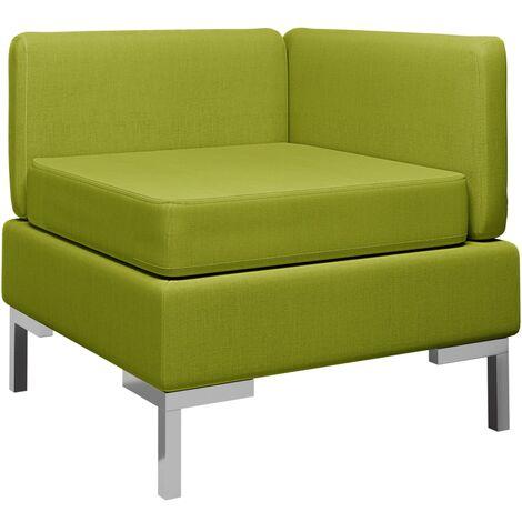 Sofá de esquina seccional con cojín tela verde