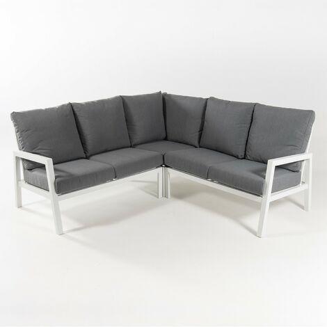 Sofá de jardin esquinero | Aluminio reforzado