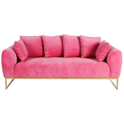 Sofá de terciopelo Audrey tres plazas Pink
